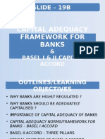 Slide-19B-Capital Adequacy Framework for Banks & BASEl I , II & III Capital Accord