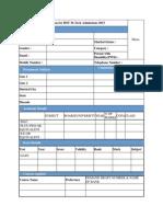 MTech Application Format
