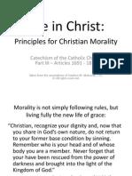 Principles for Christian Morality