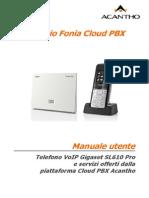 Manuale Telefono Gigaset SL610 Pro v1.0