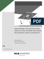 Ceiling InstructionMA DAP-ZDK 31 3S 01