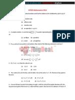 VITEEE Mathematics 2013