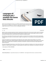 IPhone6 Plus, Campagna Di Richiamo