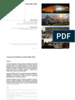 Concursos de Arquitetura No Brasil 2005 2014