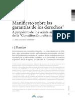 manifiesto sobre la garantia de los derechos