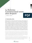 la reforma constitucional veinte años despues