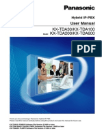 Manual KX-TDA