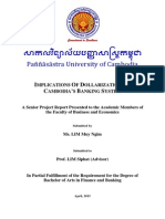 Implications of Dollarization on Cambodia's Banking System