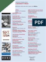 Duke University Press program ad for the National Women's Studies Association conference 2015