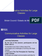 S11 Communicative Activities for Large Classes