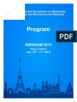 Ismanam 2015 Final Program
