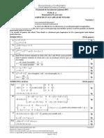 Barem Matematica Mate-Info Bac 2015