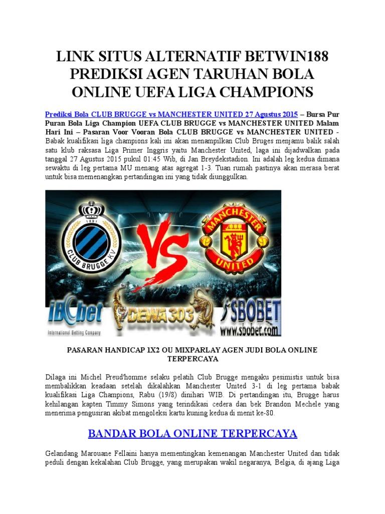 Prediksi Bola Club Bruges Vs Manchester United 27 Agustus 2015