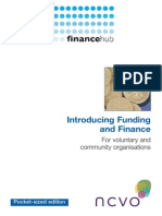 Introducing Funding & Finance for Voluntary Organisations