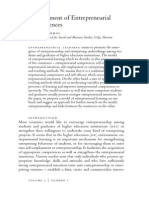 Development of Entrepreneurial Competences