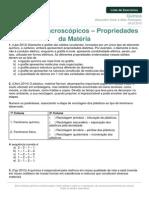 Lista de exercicios Quimica Aspectos Macroscopicos 09-02-2015