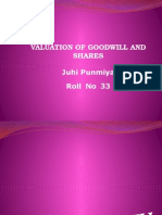valuation of goodwill and shares.pptx