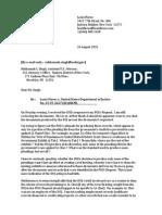 2015-08-26 Plaintiff's Initial Letter to Defendant Regarding DOJ FOIA Response