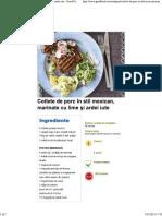 Cotlete de Porc În Stil Mexican, Marinate Cu Lime Şi Ardei Iute - Good Food Romania