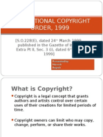 International Copyright Order, 1999