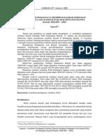 Kontibusi Pendapatan Retribusi Daerah Terhadap Pendapatan Asli Daerah (Pad) Di Kabupaen Bantul (Supardi)