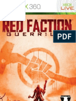 Red Faction GUERRILLA XBOX 360 MANUAL