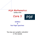 AQA Core 3 Revision Booklet