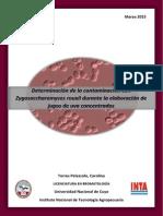 Determinación de la contaminación con Z. rouxii durante la elaboración de jugo de uva concentrado