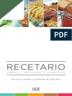 Recetario Comidas Tradicionales UCR