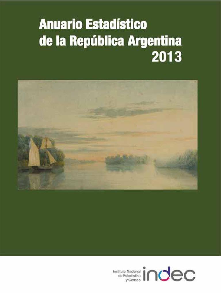 ef80957d60 INDEC. Anuario Estadístico 2013