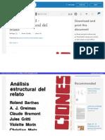 Https Es Scribd Com Doc 48012884 Barthes Roland Anlisis Estructural Del Relato
