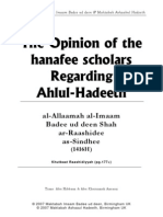 The Opinion of the Hanafee Scholars Regarding Ahlul Hadeeth
