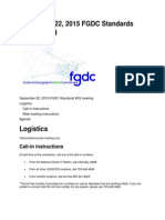 September 22, 2015 FGDC Standards WG meeting