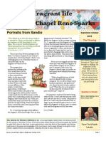 Calvary Chapel Fragrant Life Women's Ministry Newsletter September-October 2015