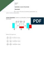 Aprender a Sumar y Restar Fracciones