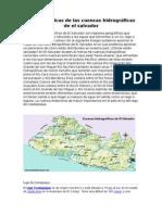 Características de Las Cuencas Hidrográficas de El Salvador