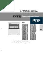 Operation Manual VRV III All - Daikin