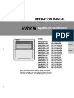 Operation Manual VRV III All - Daikin