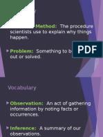 scientific method vocab