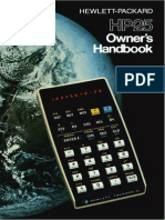 HP 25 OwnersHandbook