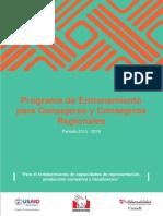 Programa de Entrenamiento Consejeros Regionales