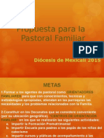 Propuesta Para La Pastoral Familiar