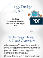 technology 678 - back to school night - fall 2015