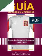 Guía de Escudos y Uniformes 2015 LaFutbolteca