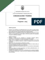 Programa Com y Teorias Cat 1 2015