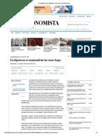 26-08-2015 En hipotecas se mantendrán las tasas bajas _ El Economista