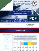 Monografia Estado de La Educacion Superior en Panama 2015 Diapositivas