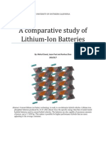 A comparative study of lithium ion batteries