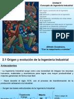 UNIDAD II. Concepto de Ingenieria Industrial.