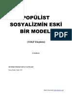 PopÜlİst Sosyalİzmİn Eskİ bİr Modelİ